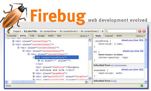 Firefox+firebug